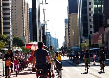 bike path sao paulo brazil urban